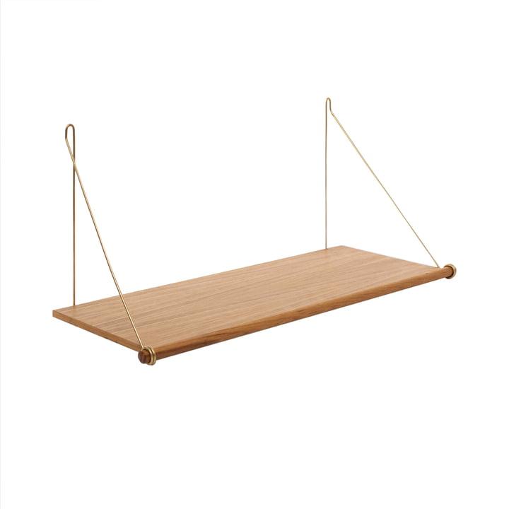 The Loop Shelf , oak / brass from We Do Wood