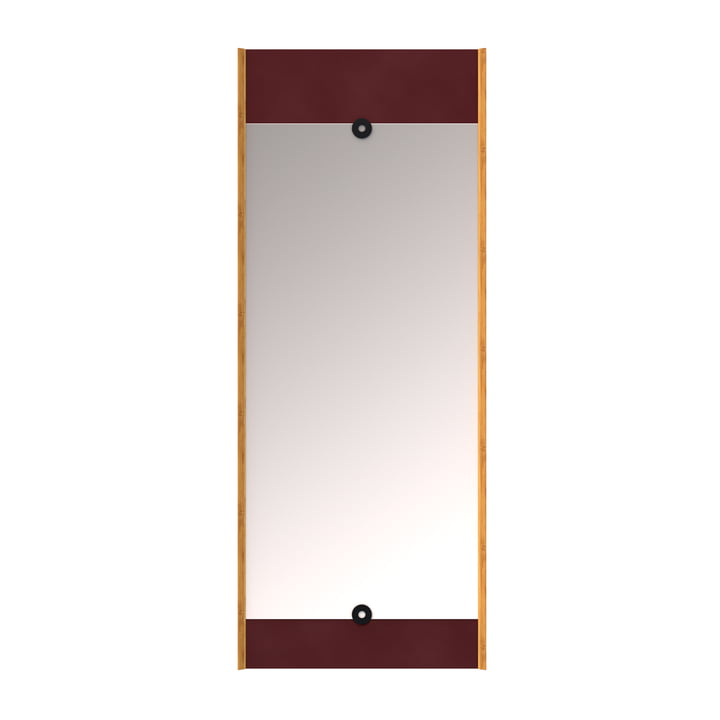 The wall Layer mirror, burgundy red from We Do Wood