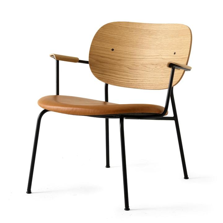 Co Chair Lounge Chair from Menu in black (RAL 9005) / natural oak / Dakar 250