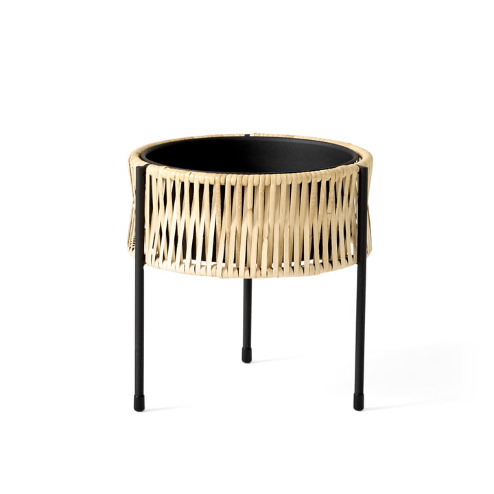 The Umanoff plant pot Ø 27 x H 27 cm, rattan / black ( (RAL 9005) from Menu