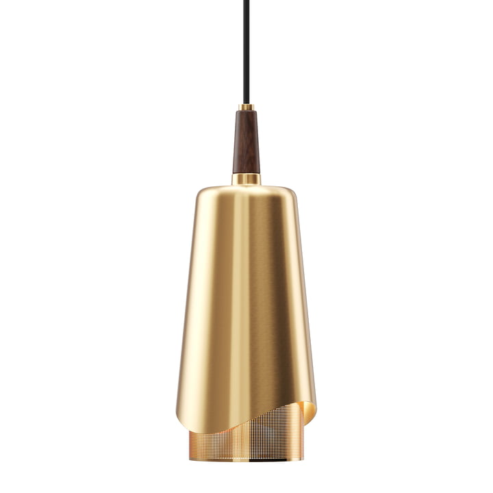 The Umanoff pendant lamp, brass / walnut from Menu