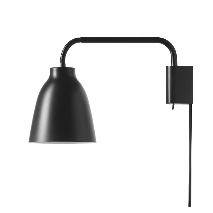 Caravaggio wall lamp Read by Fritz Hansen in matt black
