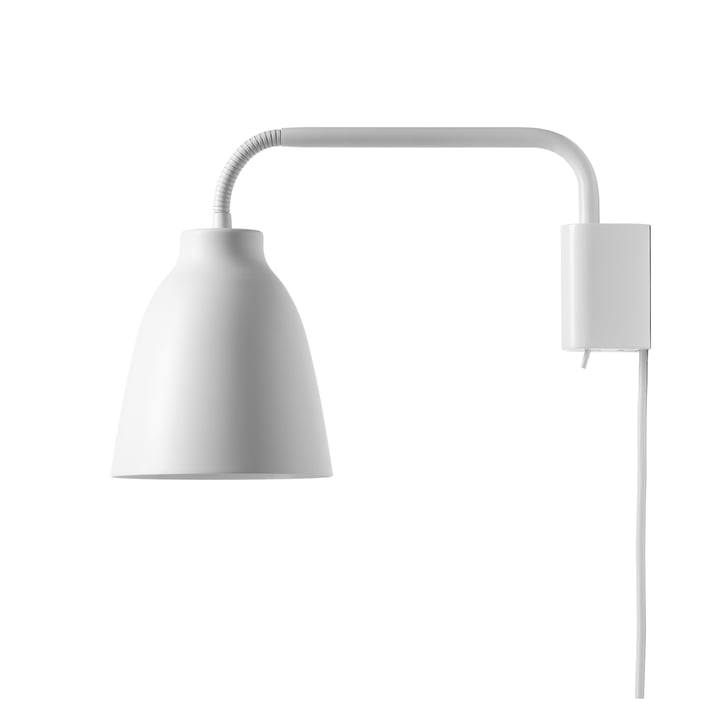 Caravaggio wall lamp Read by Fritz Hansen in matt white