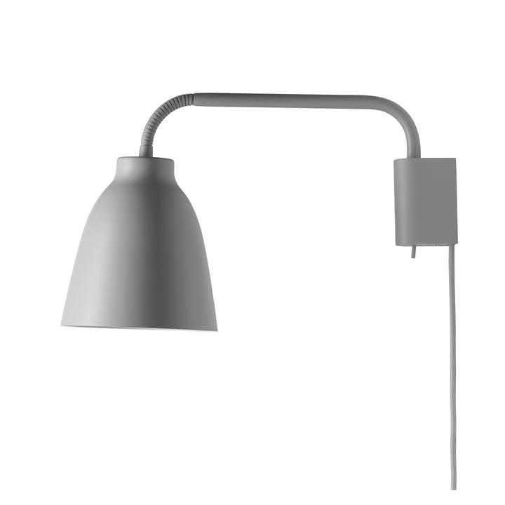 Caravaggio wall lamp Read by Fritz Hansen in matt grey