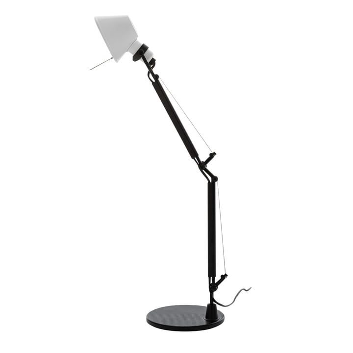 Tolomeo Micro Bicolor table lamp, black / white by Artemide