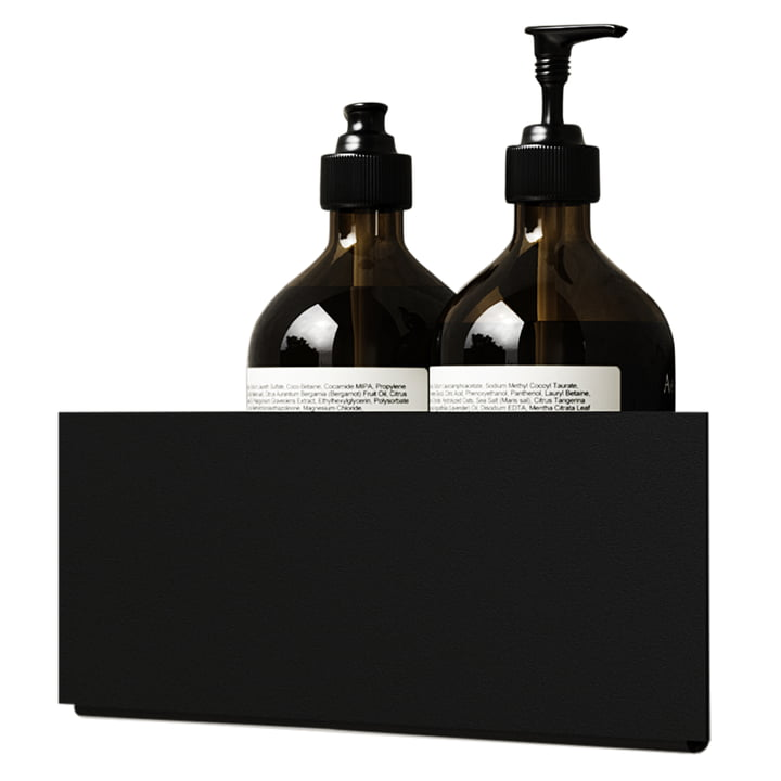 The wall shelf corner of Nichba Design in black