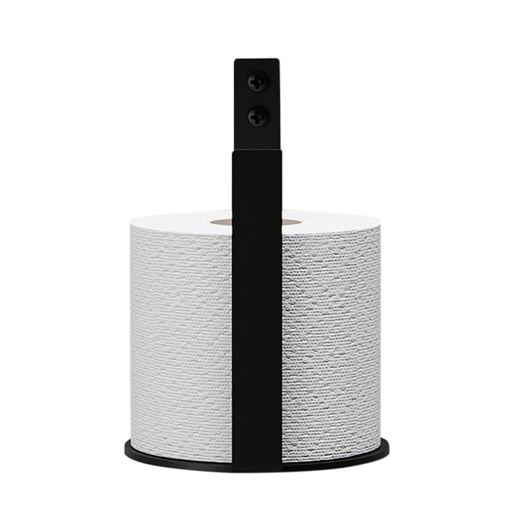 The toilet paper holder Extra from Nichba Design in black