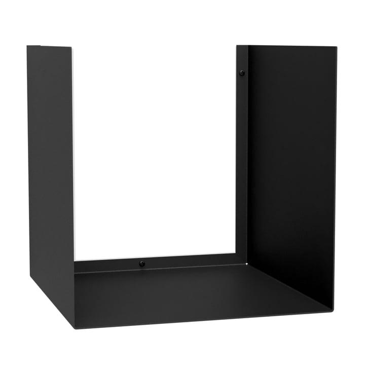 The U-Shelve wall shelf from Nichba Design in black
