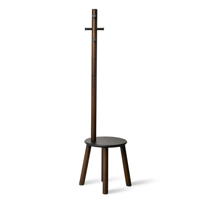 The Pillar stool / coat rack from Umbra in black