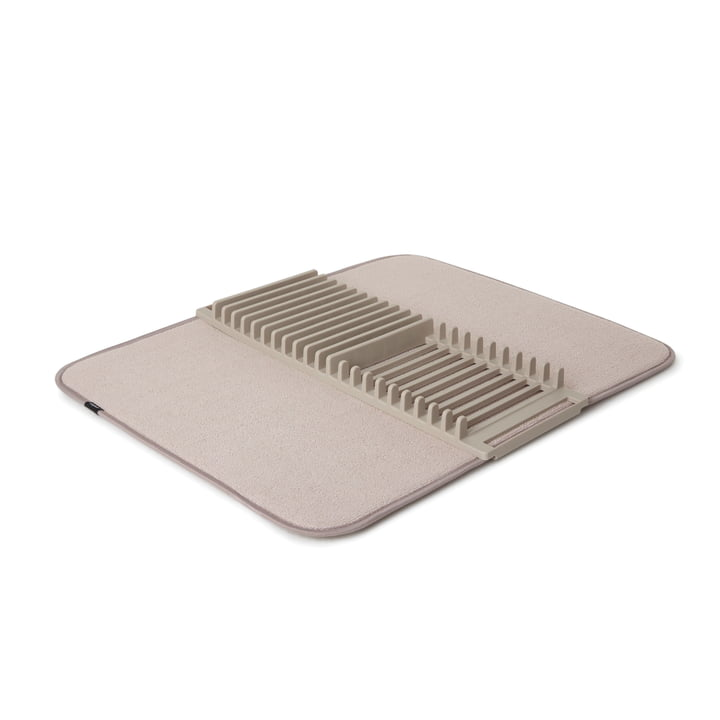 Udry Crockery basket & Drying mat from Umbra in latte