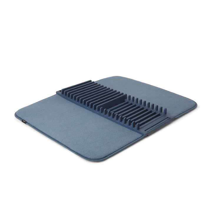 Udry Crockery basket & Drying mat from Umbra in denim