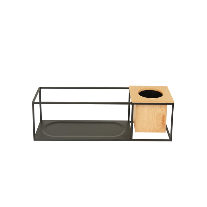 The small Cubist wall shelf with wooden container from Umbra