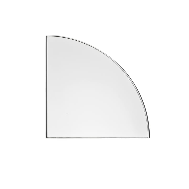 The wall Unity mirror in silver by AYTM
