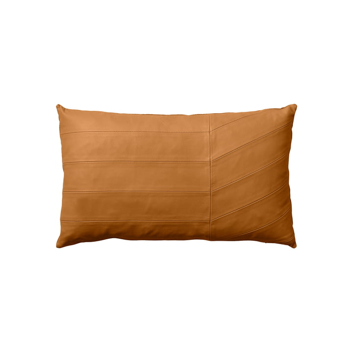 The Coria cushion, sheepskin, 50 x 30 cm, amber by AYTM