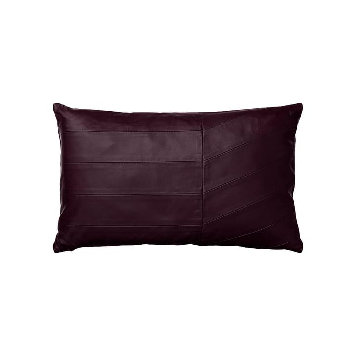 The Coria cushion, sheepskin, 50 x 30 cm, bordeaux by AYTM