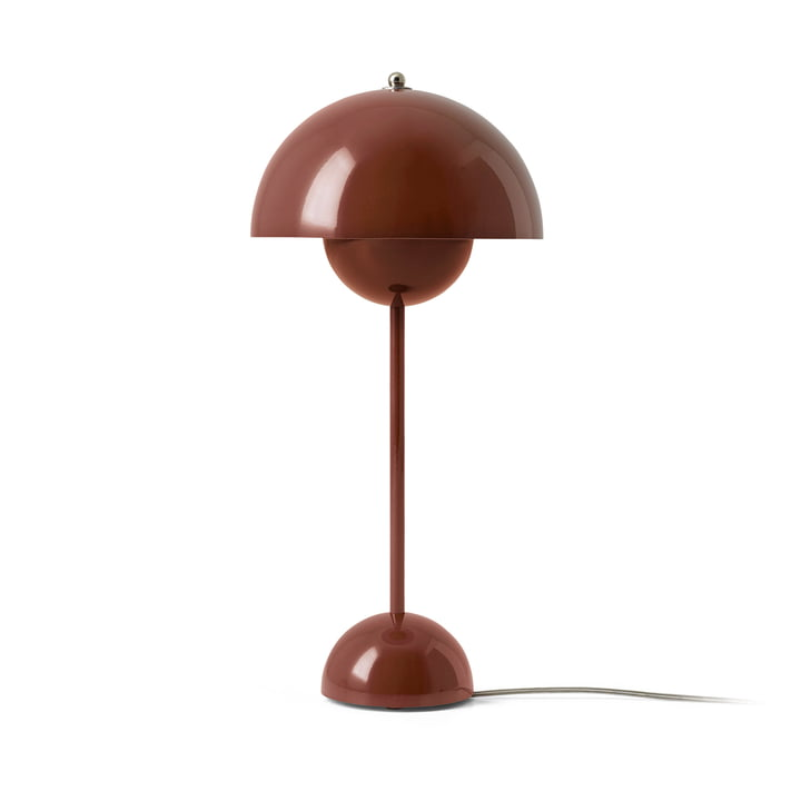 FlowerPot table lamp VP3 by & tradition in red brown
