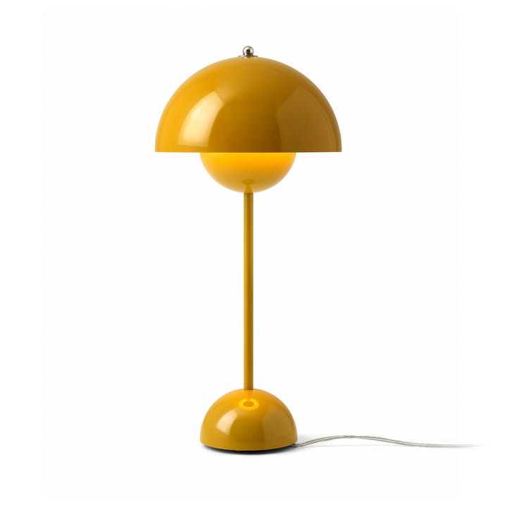 FlowerPot table lamp VP3 from & tradition in mustard