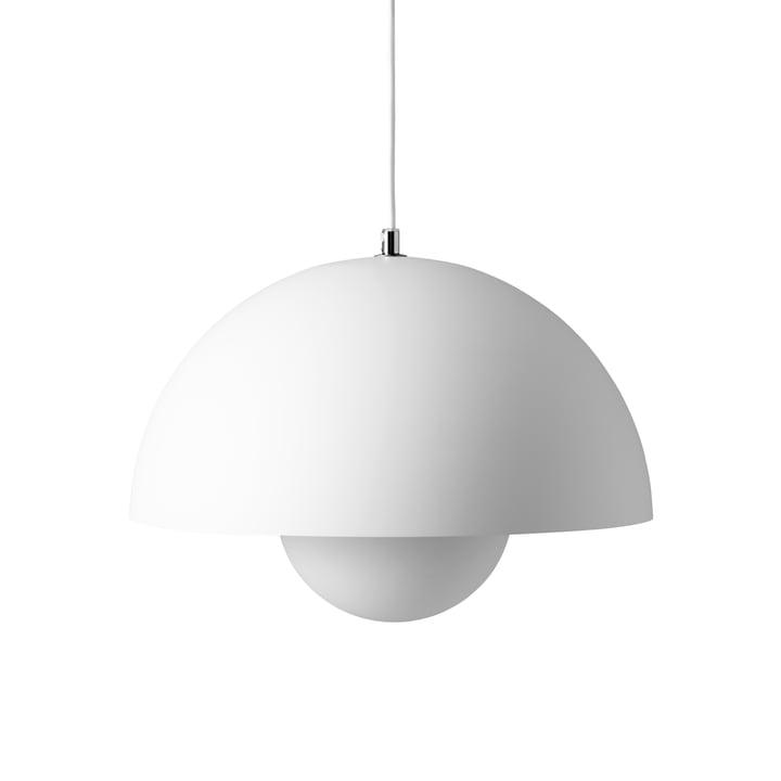 FlowerPot Pendant light VP7 in matt white by & tradition