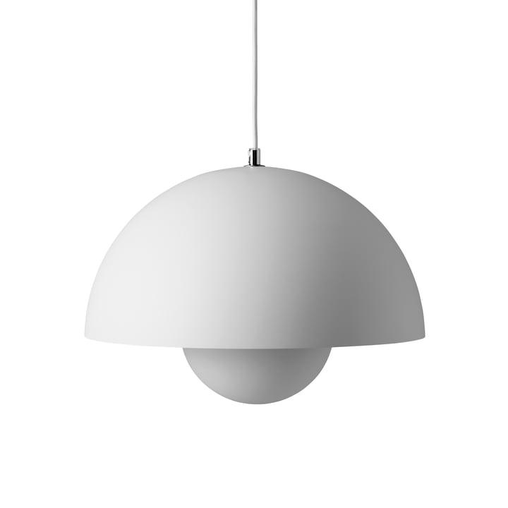 FlowerPot Pendant light VP7 in matt light grey by & tradition