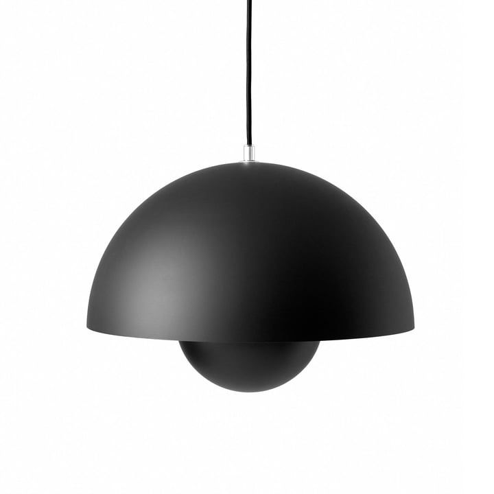 FlowerPot Pendant light VP7 in matt black by & tradition