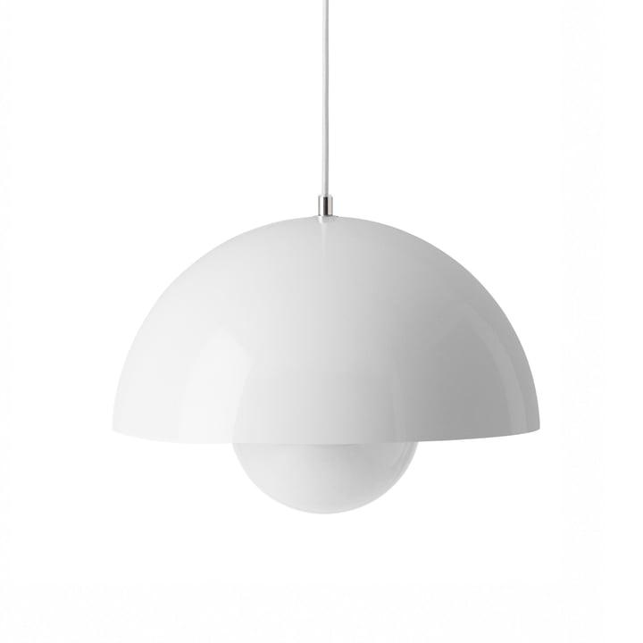 FlowerPot Pendant light VP7 in white from & tradition