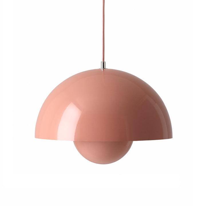 FlowerPot Pendant light VP7, beige-red from & tradition