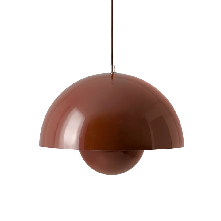 FlowerPot Pendant light VP7 in red-brown from & tradition