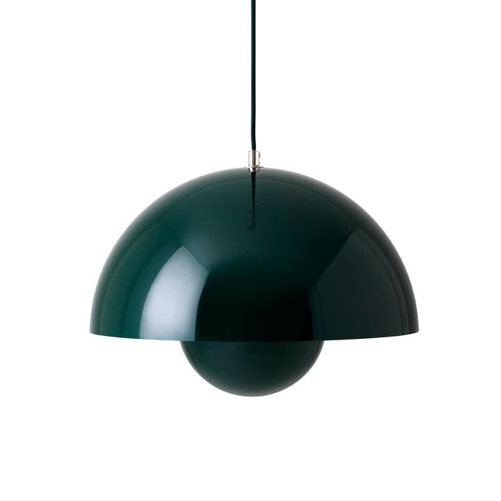 FlowerPot Pendant light VP7 in dark green by & tradition