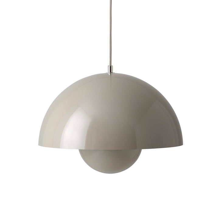 FlowerPot Pendant light VP7 in grey-beige by & tradition