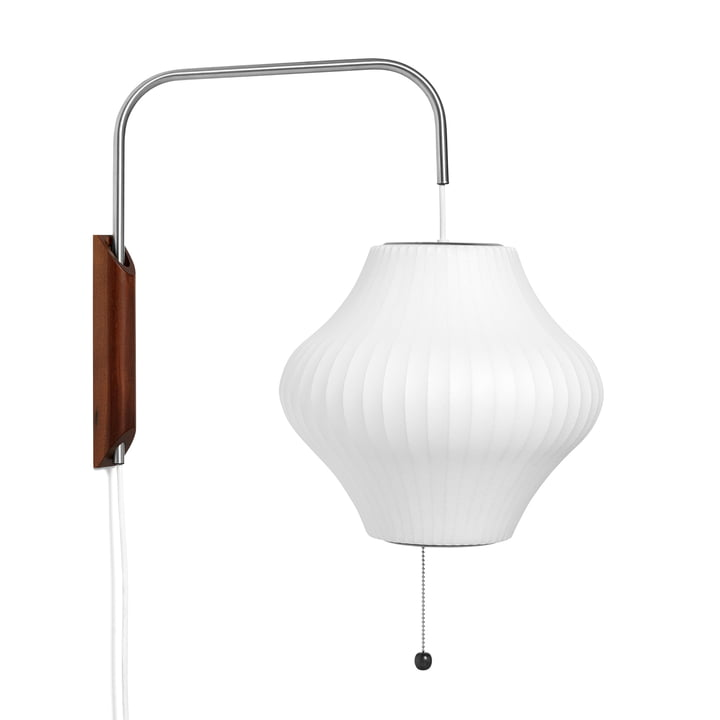 The wall Nelson Pear Wall lamp S, off white from Hay
