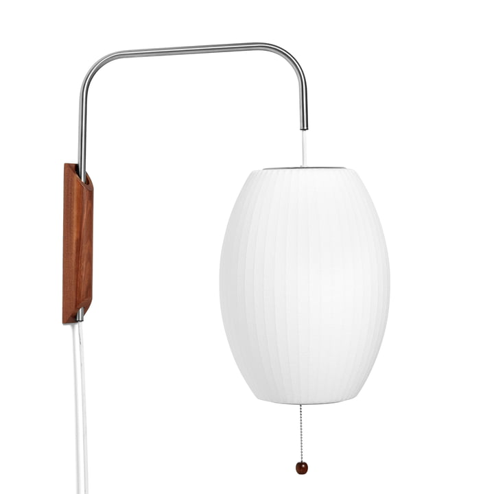 The wall Nelson Cigar Wall lamp S, off white from Hay