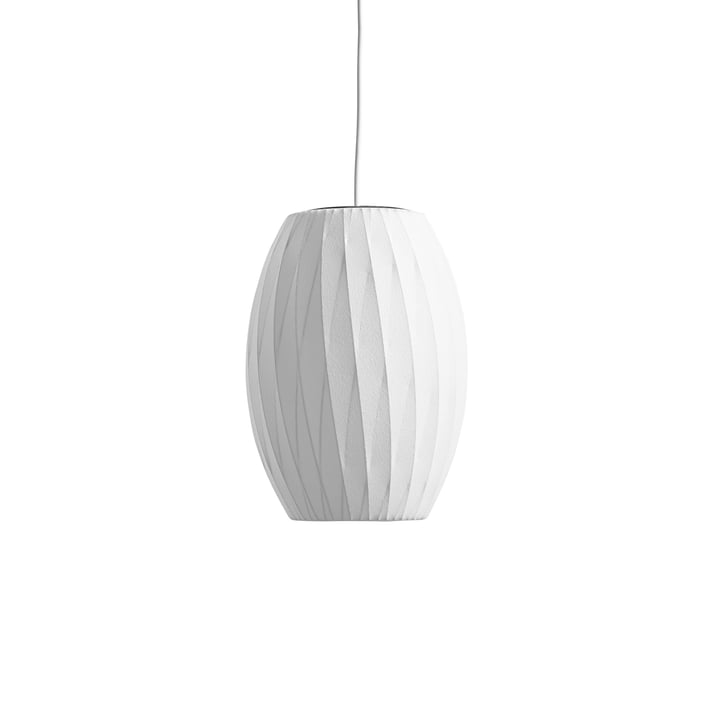 The Nelson Cigar Crisscross Bubble Pendant S, off white from Hay