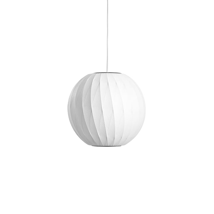 The Nelson Ball Crisscross Bubble Pendant S, off white by Hay