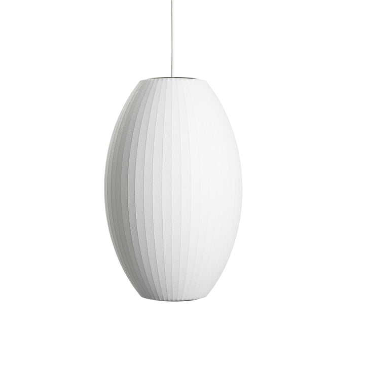Nelson Cigar Bubble pendant lamp M, Ø 33 x H 53 cm in off white by Hay