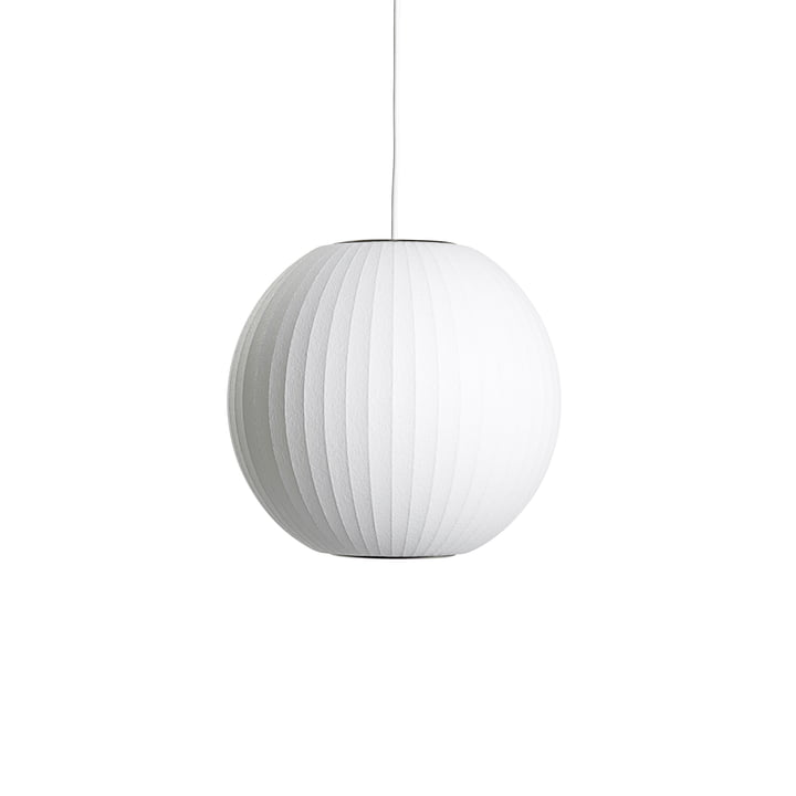 Nelson Ball Bubble pendant lamp S, Ø 3 2. 5 x H 30.5 cm, off white by Hay