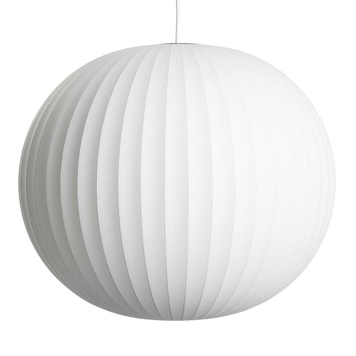 Nelson Ball Bubble Pendant L, Ø 68 x H 5 9. 5 cm, off white by Hay