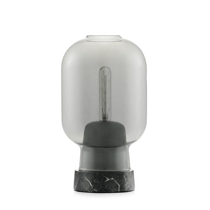 Amp table lamp by Normann Copenhagen in marble black / smoke