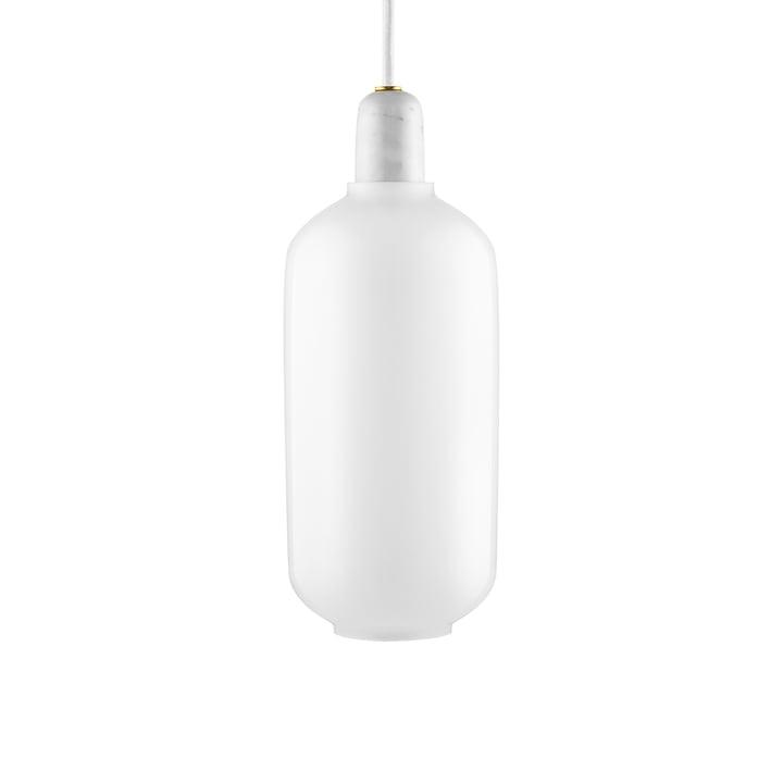 Amp Pendant light large from Normann Copenhagen in white / white