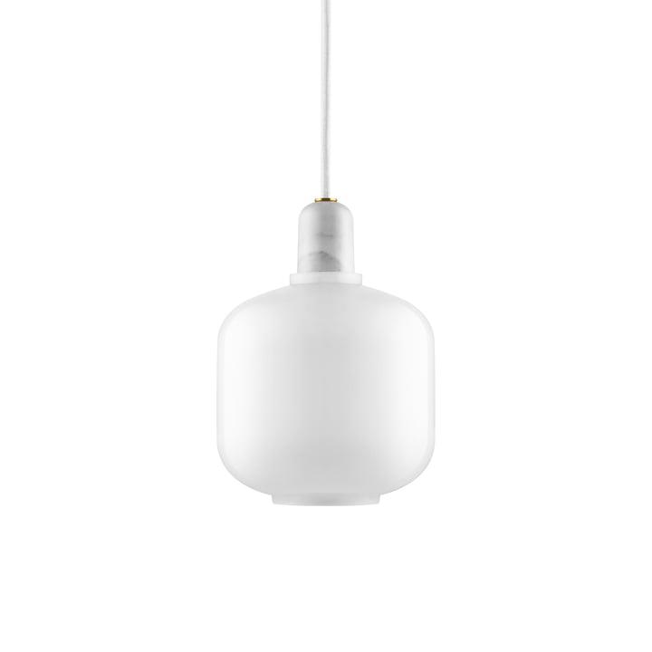 Amp Pendant light small from Normann Copenhagen in white / white