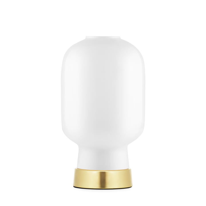 Amp table lamp by Normann Copenhagen in brass / white