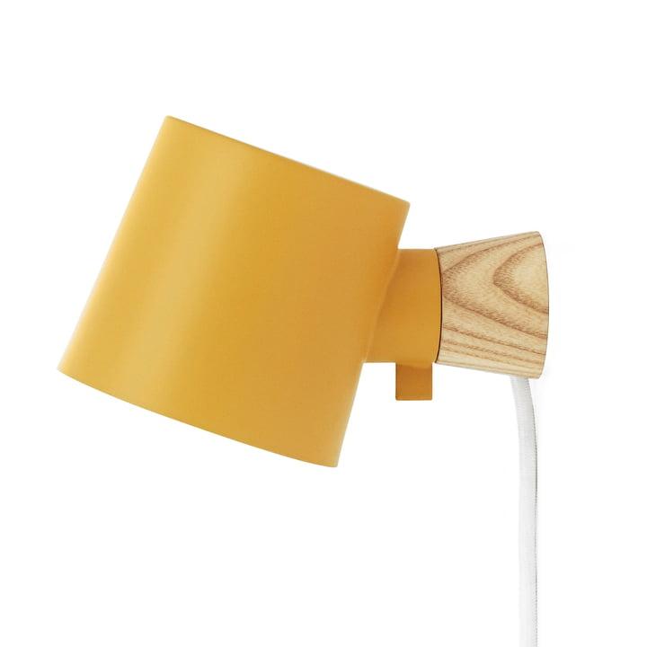 Rise Wall lamp from Normann Copenhagen in yellow