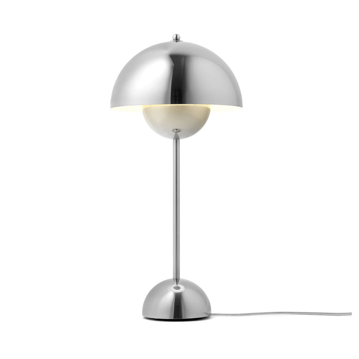 & Tradition - FlowerPot table lamp VP3, polished steel