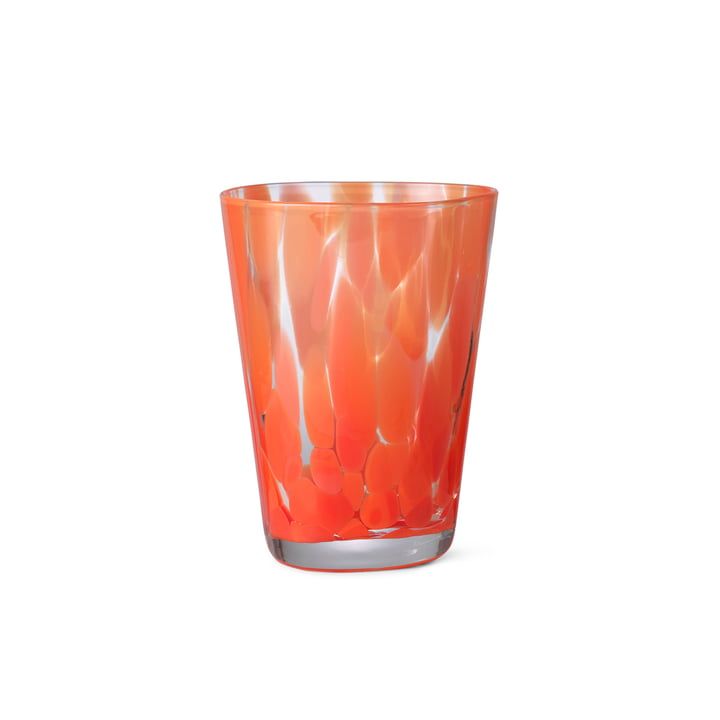 The Casca drinking glass from ferm Living in poppy red