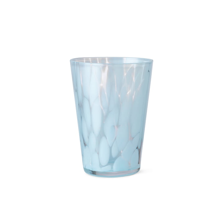 The Casca drinking glass from ferm Living in pale blue