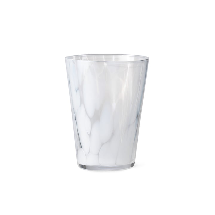 The Casca drinking glass from ferm Living in milk