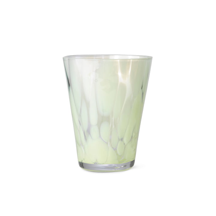 The Casca drinking glass from ferm Living in fog green