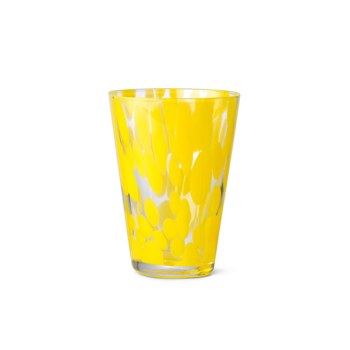 The Casca drinking glass from ferm Living in Dandelion