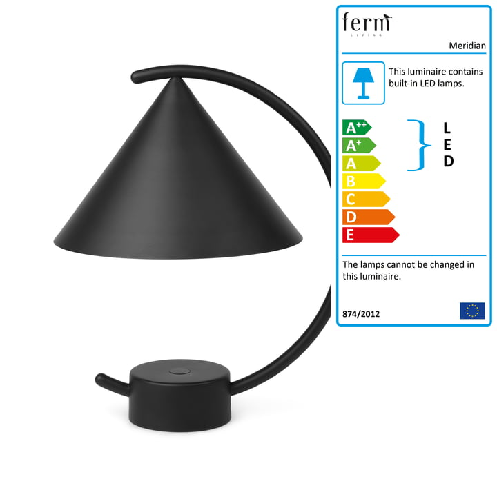 The Meridian table lamp from ferm Living in black