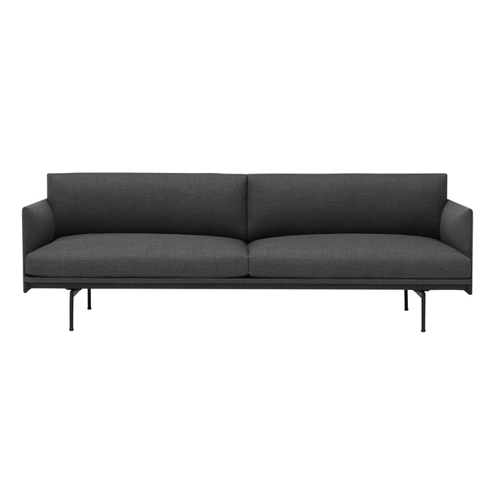 The Outline Sofa 3-seater from Muuto in grey