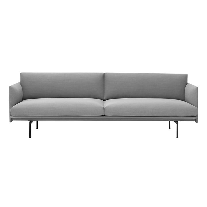 The Outline 3-seater sofa from Muuto in grey